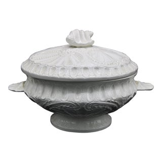 Large Italian Lidded Soup Tureen With Ladle For Sale