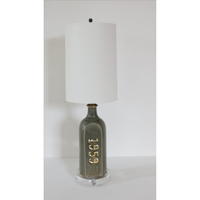 1959 Ceramic Cask Bottle Lamp - Image 2 of 5