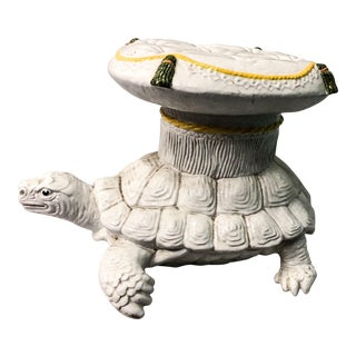 Italian Turtle Terracotta Garden Seat For Sale