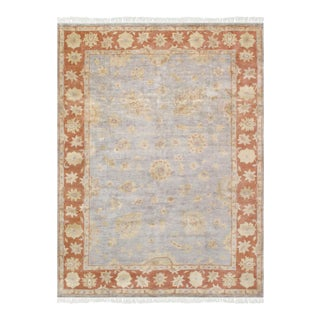 """Pasargad Oushak Wool Area Rug- 9'10"""" X 13' 2"""" For Sale"""