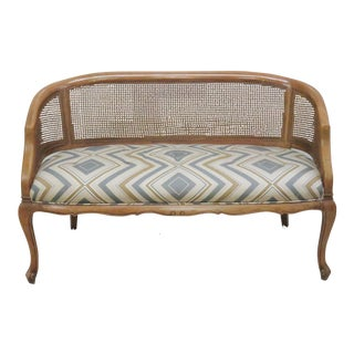Louis XV Style Caned Back Settee For Sale