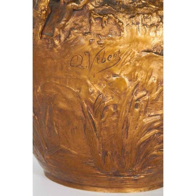 Bronze Alexandre Vibert, French Art Nouveau Figural Gilt Bronze Ewer, Circa 1900 For Sale - Image 7 of 9