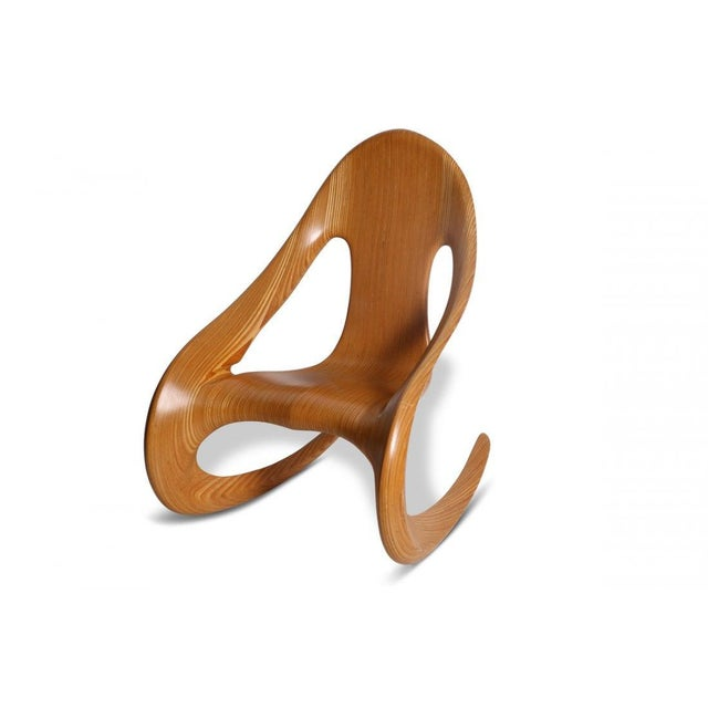 1980s Vintage Carl Gromoll Artist Made Rocking Chair For Sale In Philadelphia - Image 6 of 6