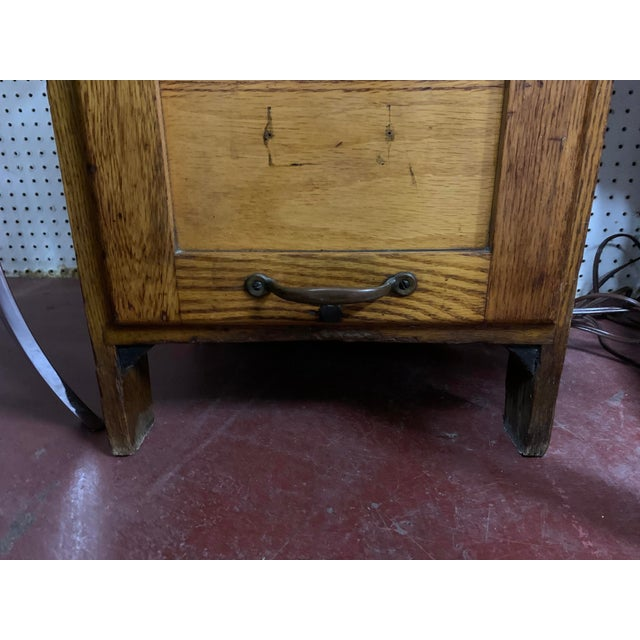 1910s 1910s Oak Industrial Three Drawer File Cabinet by Weis For Sale - Image 5 of 7