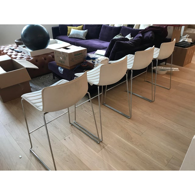 Contemporary Arper Catifa 46 Sled Low Back Counter Stools - Set of 4 For Sale - Image 3 of 10