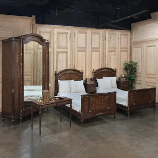 19th Century Louis XVI Bronze Mounted Mahogany Beds by Schmit of Paris - a Pair Preview