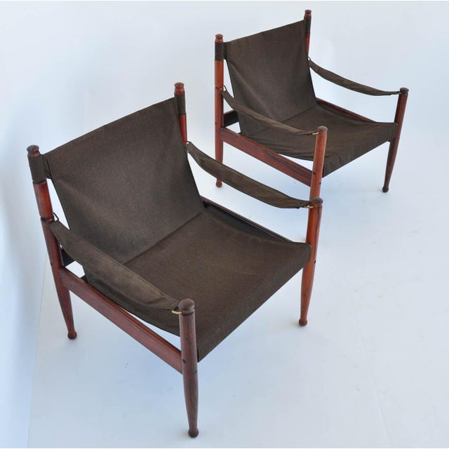 Erik Worts Rosewood Safari Sling Chair - Pair - Image 6 of 10