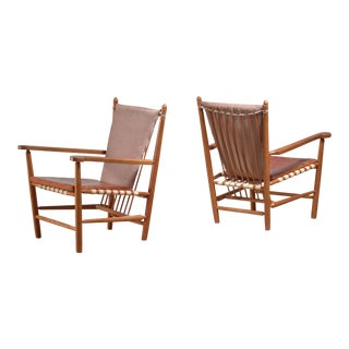 Albert Haberer Pair of Armchairs, Germany For Sale