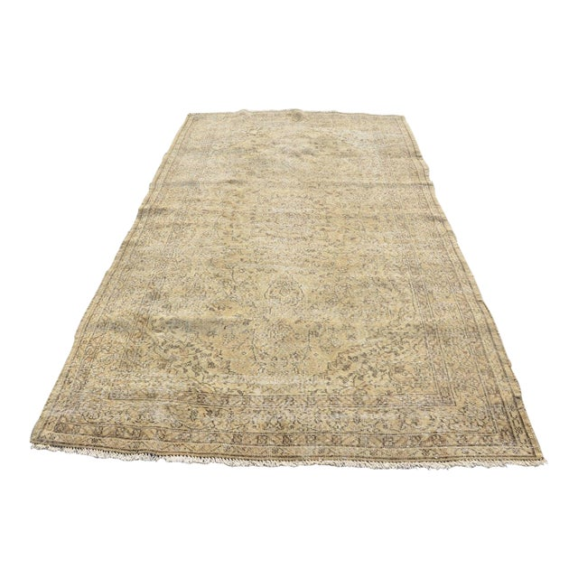 Distressed Turkish Rug - 3′9″ × 9′2″ For Sale