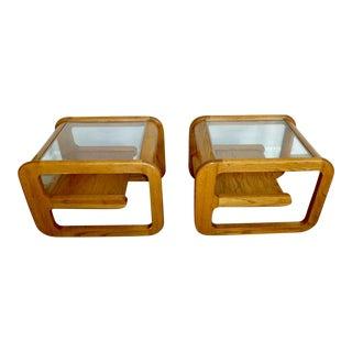 Mid Century Lou Hodges Design Mersman Waldron Comfort End Tables - a Pair For Sale