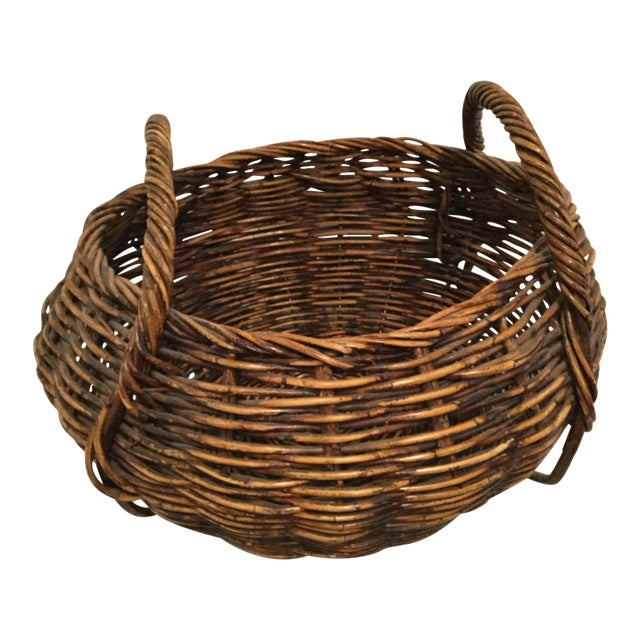 Brown Decorative Basket For Sale