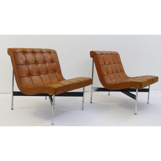 Pair Of Two Armchairs by William Katavolos For ICF Milano, 1990 Italy