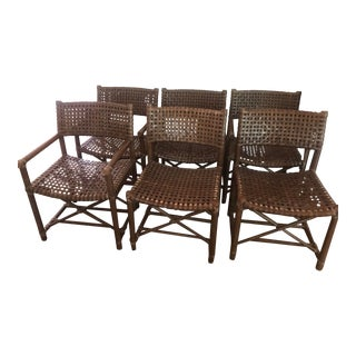 McGuire Bamboo Rawhide Dining Chairs - Set of 6 For Sale