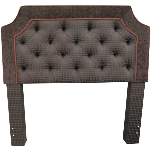 Custom Upholstered Full Size Headboards - Pair - Image 1 of 9