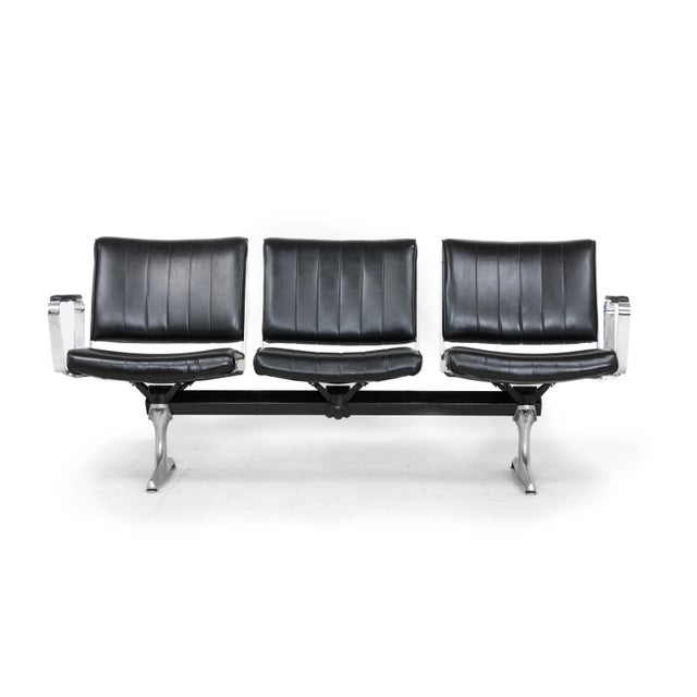This is the Chromcraft Original 3 Seat Airport Bench. These seats provided comfort to flyers in Portland International...