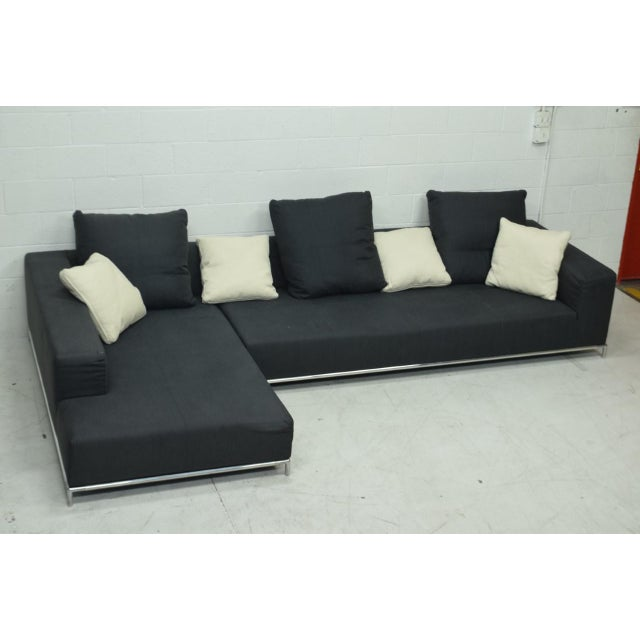 2000 - 2009 21st Century Antonio Citterio for B&b Italia Two-Piece George Sectional For Sale - Image 5 of 10