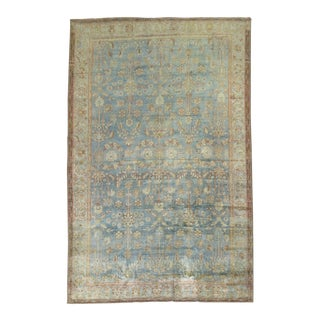 Watery Blue Early 20th Century Malayer 1'3'' For Sale
