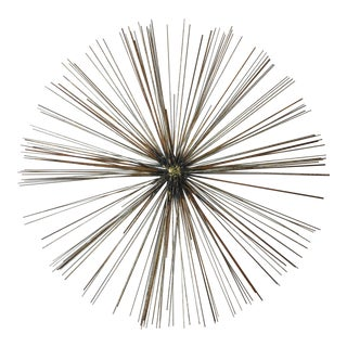 Mid-Century Modern Sea Urchin Decorative Metal Wall Sculpture