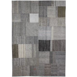 "Hand Knotted Patchwork Kilim by Aara Rugs Inc. - 11' X 8'0"" For Sale"