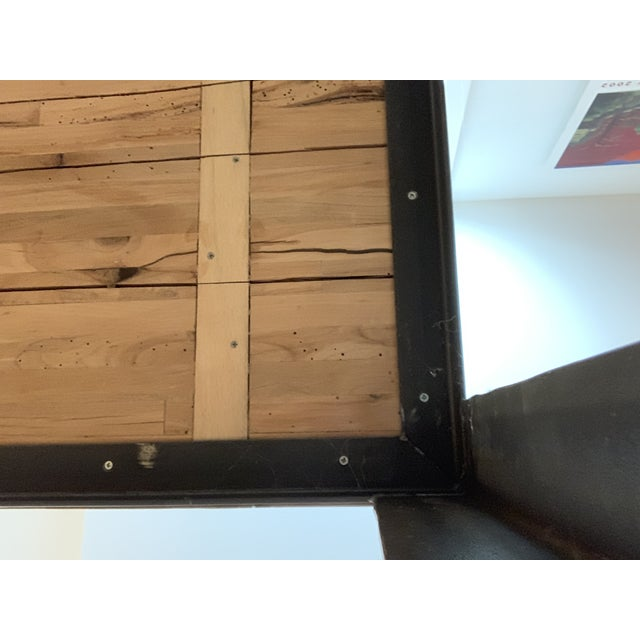 Industrial Reclaimed Wood and Metal Writing Table For Sale - Image 10 of 11