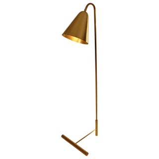 Brass Cone Shade Floor Lamp For Sale