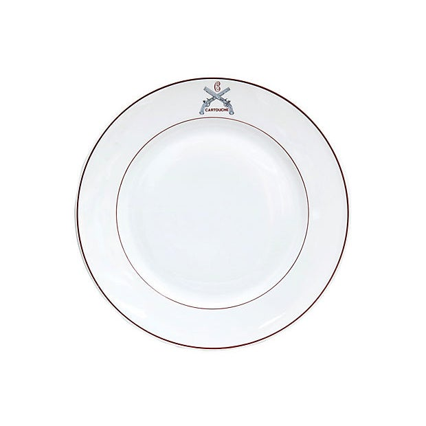 French French Restaurant Plates - Set of 12 For Sale - Image 3 of 5