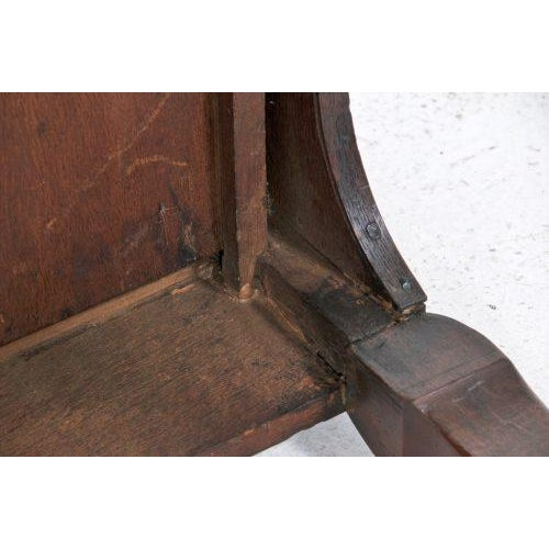 Early 20th Century Edwardian English Oak Dressing Table / Lowboy For Sale - Image 10 of 11