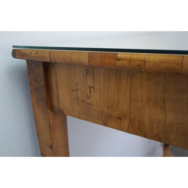 19th Century Austrian Biedermeier Birch Antique Pier Table For Sale In San Diego - Image 6 of 13