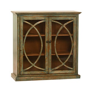 Deco Glass Door Side Cabinet