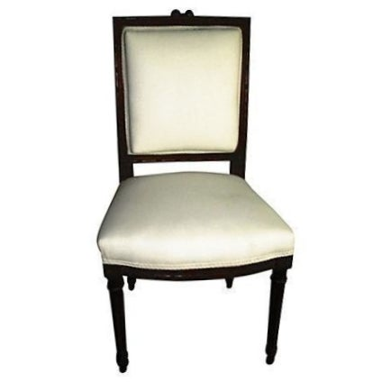 French Walnut Side Chair For Sale