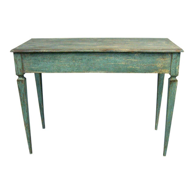 Italian Tall Painted Wood Console or Serving Table For Sale