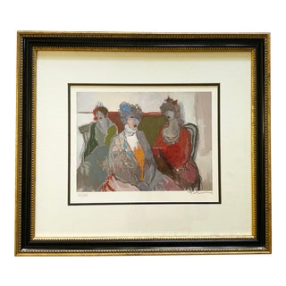 """Itzchak Tarkay Signed Serigraph, """"The Aristocrats"""" For Sale"""