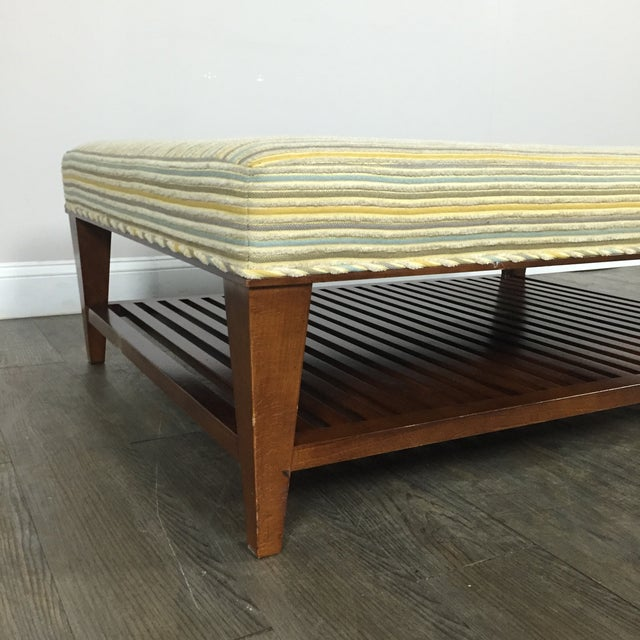 Upholstered Ottoman Coffee Table by Baker - Image 7 of 9