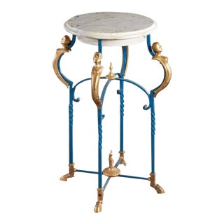 Late 20th Century Vintage Neoclassical-Style Marble-top Stand For Sale