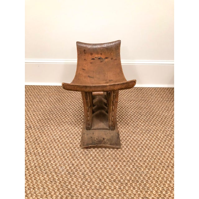 1950s Vintage Wood Carved Ashanti Stool For Sale In Little Rock - Image 6 of 7