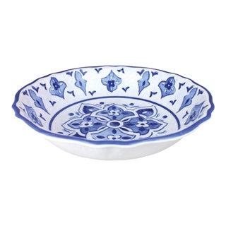 """Moroccan Blue Melamine Salad Bowl, 13.75"""" For Sale"""