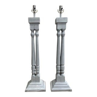 Architectural Lamps - a Pair For Sale