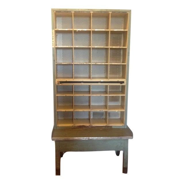 Vintage Industrial Post Office Sorting Cubby For Sale