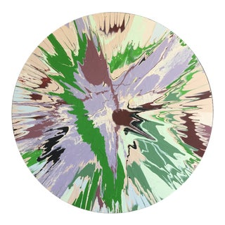 Abstract Purple/Beige/Green Color Field For Sale