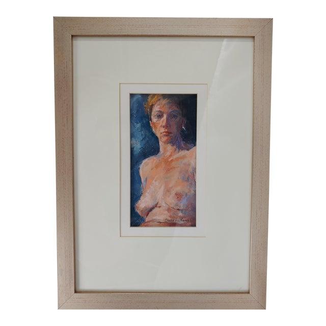 1970s Nude Original Painting by Charles Van Der Merwe, South Africa For Sale