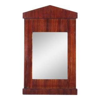 1940s Mahogany Architectural Mirror For Sale