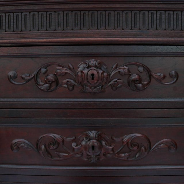 1870 Renaissance Revival Carved Walnut Dresser - Image 6 of 11