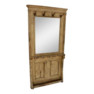 Painted Pine Mirrored Hallstand For Sale