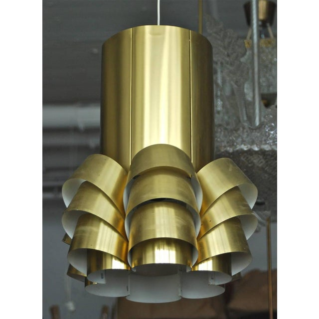 Large pendant by Hans Agne Jakobsson, Sweden, Circa 1960th. Polished brass shade with single Edison style socket. Existing...