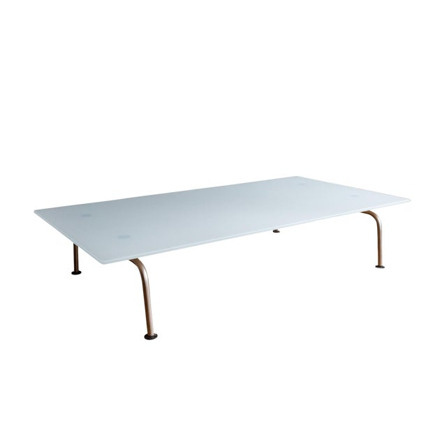 Murano Glass Coffee Table by Vico Magistretti for Fritz Hansen For Sale