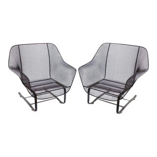 "Original Woodard 1950s ""Sculptura"" Lounge Garden Chairs - A Pair"