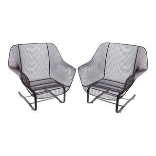 """Original Woodard 1950s """"Sculptura"""" Lounge Garden Chairs - A Pair For Sale"""