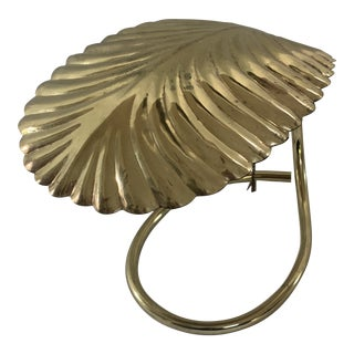 Tomasso Barbi for Chapman Brass Palm Frond Desk Lamp For Sale
