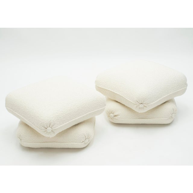 1970s Pair of Ottomans Poufs by Jancques Charpentier for Maison Jansen 1970s For Sale - Image 5 of 10