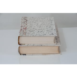 Coral Print and Script Decorative Books - a Pair Preview